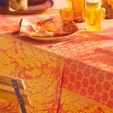 Graminées Orange Tablecloth