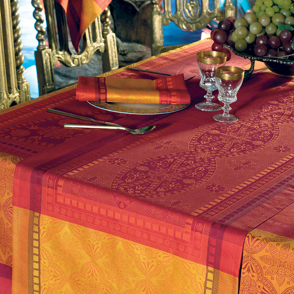 Palerme Orange Sanguine Tablecloth