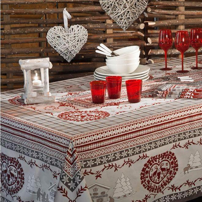 Beauvillé, Cortina Grey Christmas Tablecloth