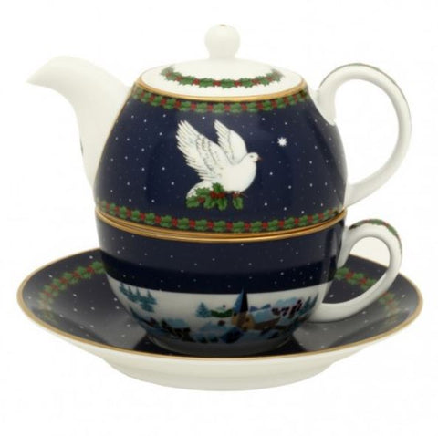 "Halcyon Days, Dove of Peace Holiday  ""Tea for One"" Set"