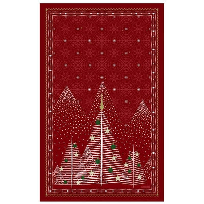Beauvillé, Foret (Forest) Red Christmas Kitchen / Tea Towel