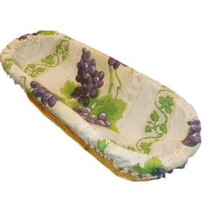 Le Cluny, Monaco Blue French Provence Bread Basket