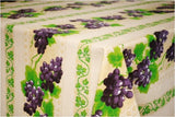 Grape Cream Coated Cotton Provence Tablecloth - Le Cluny