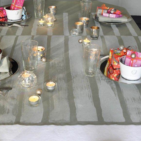 "Grif Silver Tablecloth, 69"" x 69"""