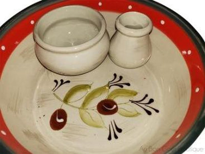 "Traditional Ceramic French Provence ""Luca"" Olives Serving Dish"