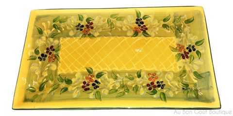 "Souleo, Medium Rectangular Serving Platter, 14"" X 8"""