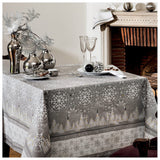 Megève Frost Christmas Holiday Tablecloth