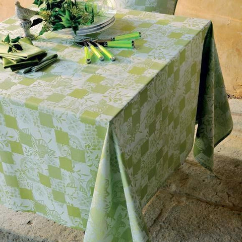 "Mille Birds Garden Coated Tablecloth, 69"" x 98"""