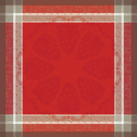 Mon Beau Sapin Rouge Christmas / Holiday Tablecloth