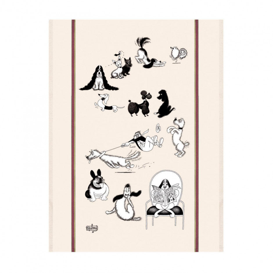 Dubout - Multi-Chiens (Lots of Dogs) Kitchen / Tea Towel