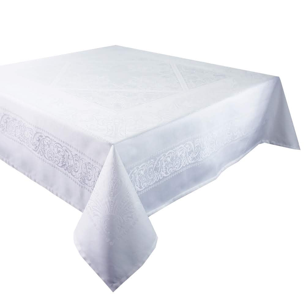 Alexandrine Neige Tablecloth, Organic Cotton
