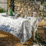Escapades Sepia Linen Tablecloth