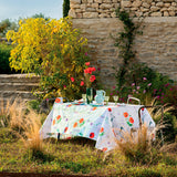 Mille Coquelicots Floraison Printed Tablecloth, Organic Cotton
