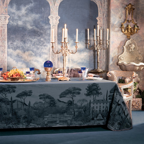 Palazzina Crepuscule (Twilight) Tablecloth, High Thread Count