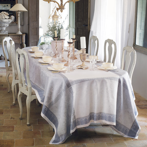 Symphonie Nuage French Linen Tablecloth