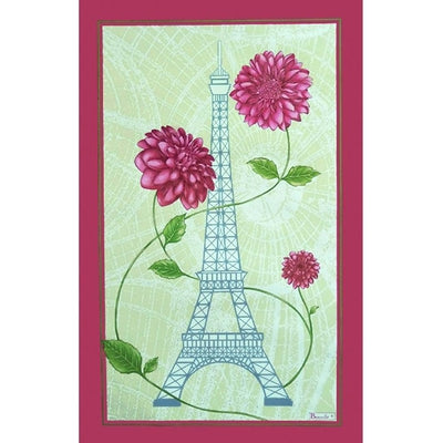 Paris Fleur Eiffel Tower Kitchen / Tea Towel