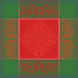Noel Baroque Rouge Christmas Holiday Tablecloth