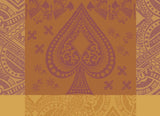 Chateau de Cartes (House of Cards), Ocre Tablecloth, High Thread Count, 71