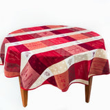 Sommelier Red French Jacquard Tablecloth