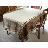 St. Gervais Winter / Holiday French Provence Jacquard Tablecloth, 65