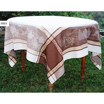 "St. Gervais Winter / Holiday French Provence Jacquard Tablecloth, 65"" x 100"""