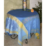 Tavel Blue French Provence Jacquard Tablecloth