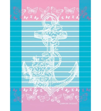 Ancre Azur (Anchor) Kitchen / Tea Towel, Limited