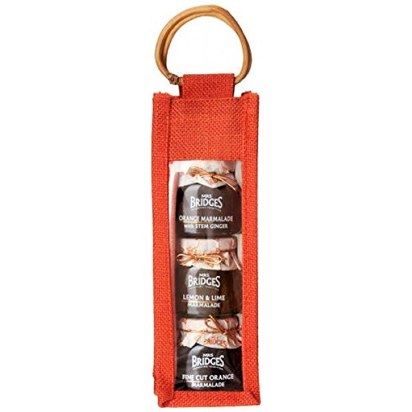 Mrs. Bridges of Scotland, Triple Gourmet Marmalade Jute Bag, 4 Oz Ea