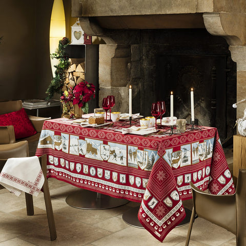 "Amours Brume Tablecloth, 69"" x 69"""