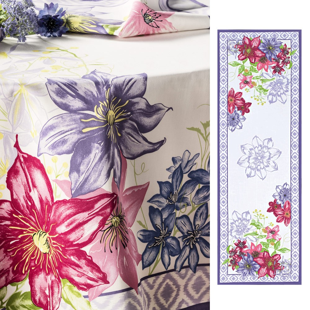Rivoli Lilac Table Runner