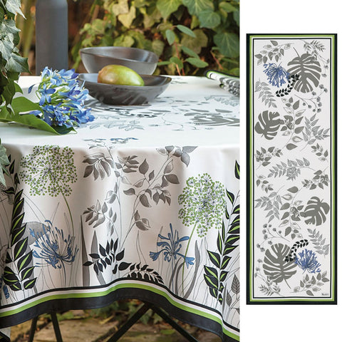 Agapanthes Cotton Table Runner