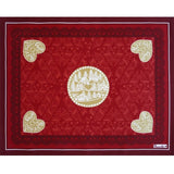 Beauvillé, L'Hiver Red Holiday Tablecloth