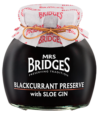 Mrs. Bridges of Scotland, Blackcurrant Preserve with Sloe Gin