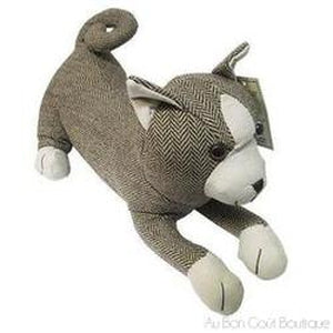 Red Tweed Puppy Weighted Door Stop