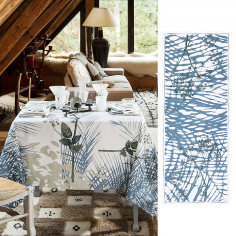 Trianon Blue & Cream Table Runner