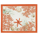 Corail (Coral), Red Placemats