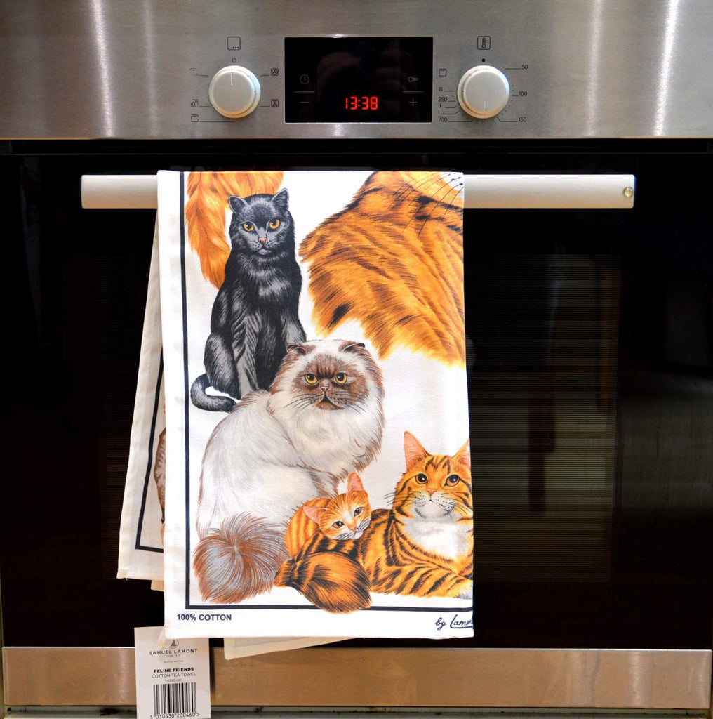 Samuel Lamont, Feline Friends Kitchen / Tea Towel