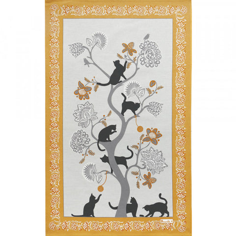 Poule et Coq Litteraires Kitchen / Tea Towel Pair