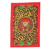Halcyon Days, Festive Leopard Christmas / Holiday Kitchen / Tea Towel