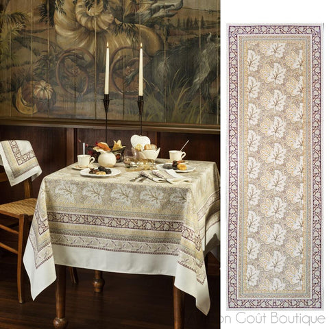 Feuilles de Vigne (Vine Leaves), Hazelnut, Tablecloth