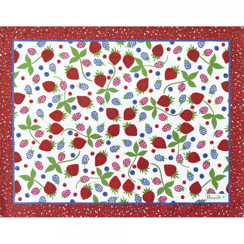 Fruits d'Ete Placemats, Coated & Non Coated