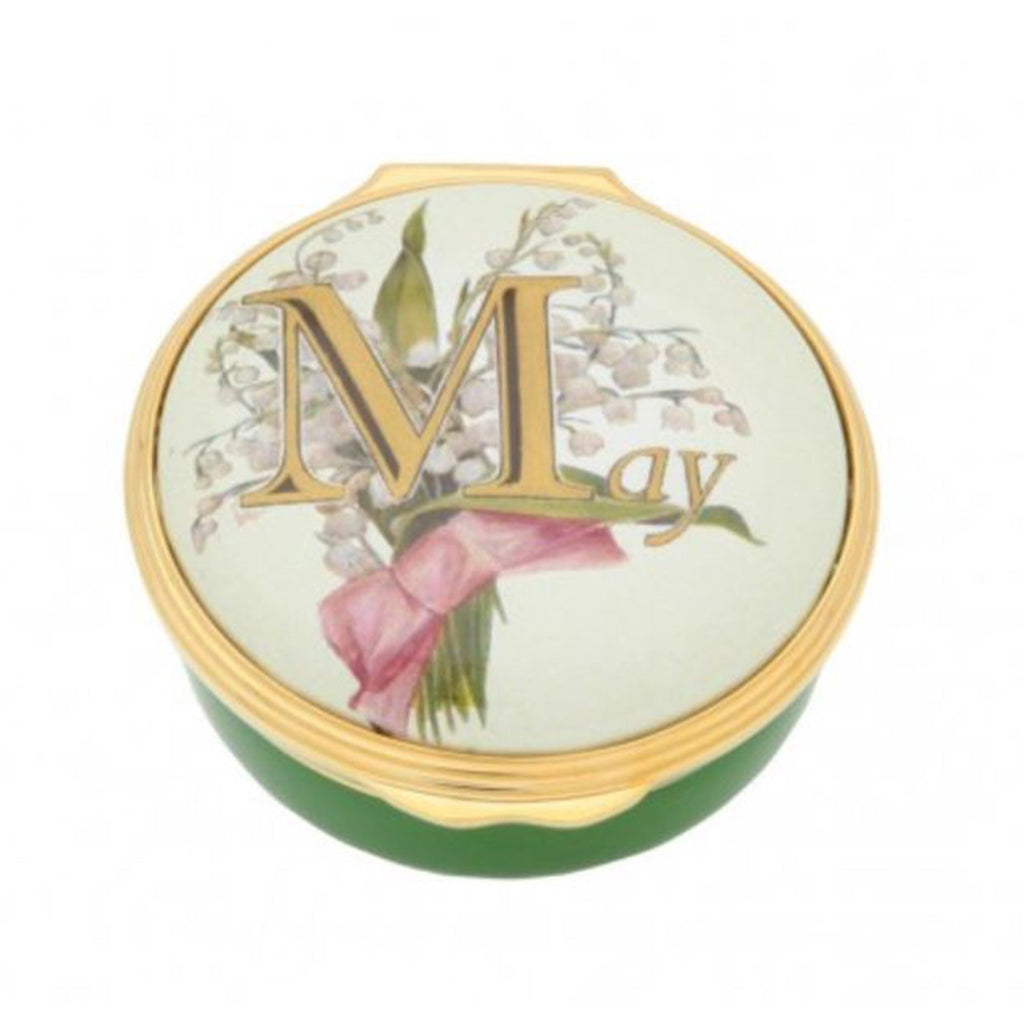 "Halcyon Days, ""May"" Memorable Milestone Hinged Enamel Box"