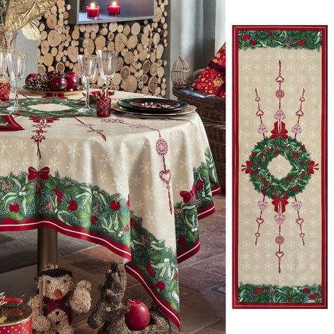 Jour de Fête (Day of Celebration) Holiday / Christmas Table Runner