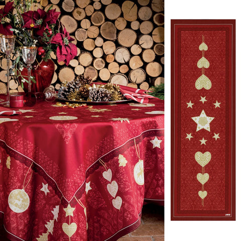 Beauvillé, L'Hiver Red Christmas Table Runner