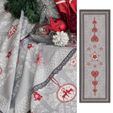 L'Hiver (Winter) Frost Holiday / Christmas Table Runner