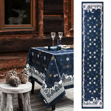 Beauvillé, La Nuit Étoilée Midnight Blue Christmas Table Runner