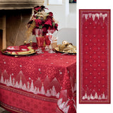 Megève Red Christmas Table Runner