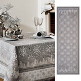 Megève Frost Christmas Table Runner