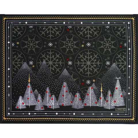 Megève Anthracite Christmas Placemats