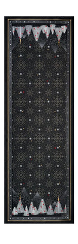 Megève Anthracite Christmas Table Runner